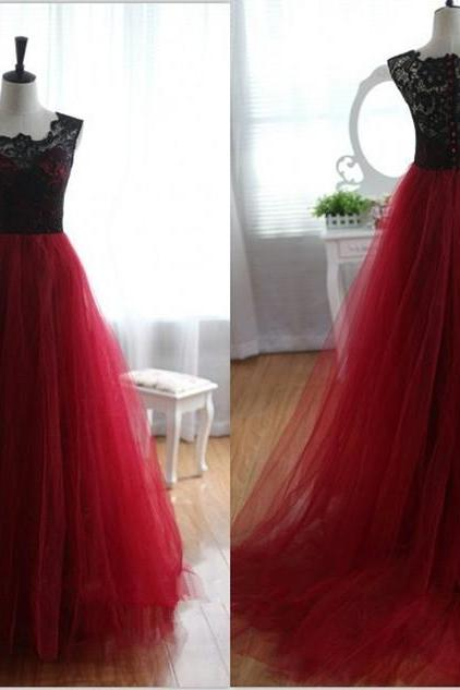 Lace Prom Dress,A Line Prom Dress,Fashion Prom Dress,Sexy Party Dress, New Style Evening Dress
