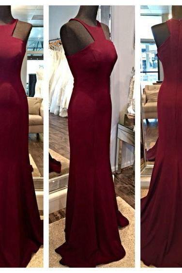 Burgundy Prom Dress,Mermaid Prom Dress,Fashion Prom Dress,Sexy Party Dress,Custom Made Evening Dress