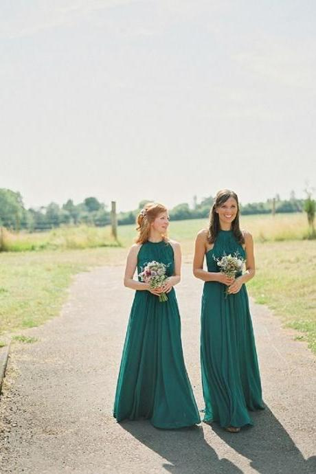 Halter Prom Dress,Green Prom Dress,Fashion Bridesmaid Dress,Sexy Party Dress, New Style Evening Dress