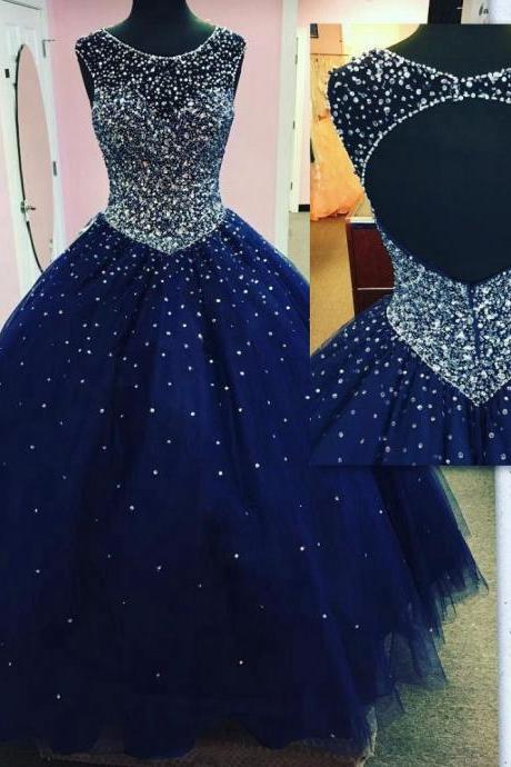 Modest Quinceanera Dress,Sparkly Ball Gown,Fashion Prom Dress,Sexy Party Dress,Custom Made Evening Dress
