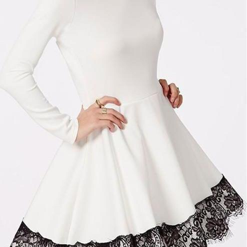 Long Sleeves Dresses,White Prom Dress,Lace Prom Dress, Fashion Homecoming Dress,Sexy Party Dress, New Style Evening Dress