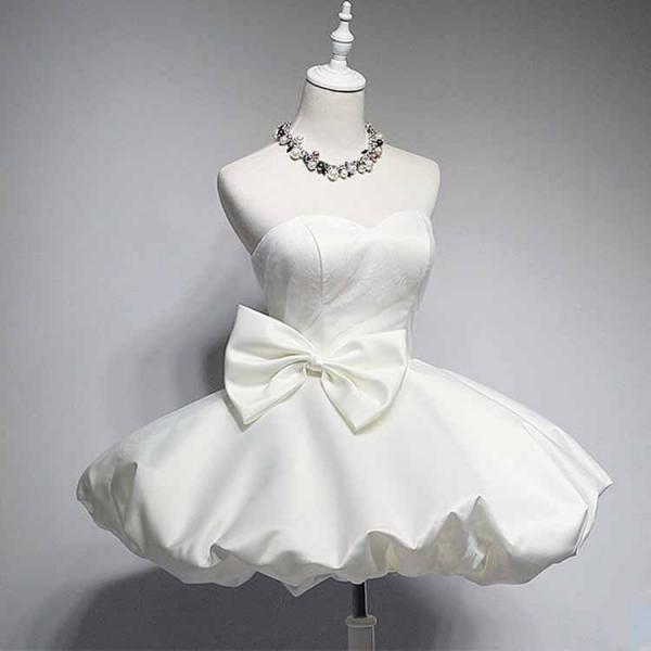 White Prom Dress,Bowknot Prom Dress,Sweetheart Prom Dress,Fashion Homecoming Dress,Sexy Party Dress, New Style Evening Dress