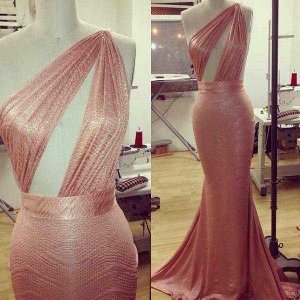 Mermaid Prom Dress,One Shoulder Prom Dress,Fashion Prom Dress,Sexy Party Dress, New Style Evening Dress