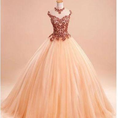 Modest Quinceanera Dress,Lace Ball Gown,Bodice Prom Dress,Fashion Prom Dress,Sexy Party Dress, New Style Evening Dress
