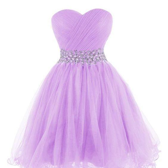 Purple Beaded Prom Dress,Sweetheart Prom Dress,Fashion Homecoming Dress,Sexy Party Dress,Custom Made Evening Dress